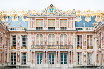 Facade of Palace of Versailles