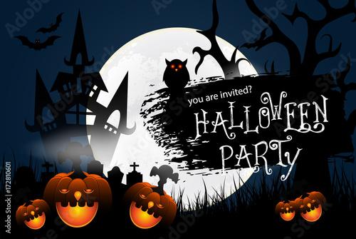 happy halloween banner mit schriftzug fledermusen und spinnennetz halloween pumpkin with scary