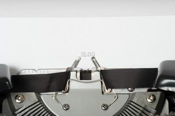 Eine alte Schreibmaschine und ein Blog