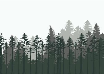 Vintage forest design template. Vector illustration