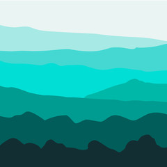 Vector Background with Mountains
