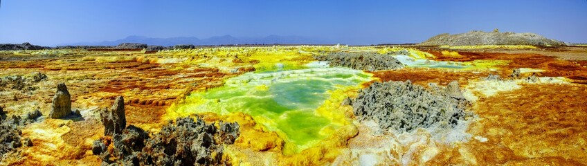 Dallol volcano of Danakil depression Ethiopia