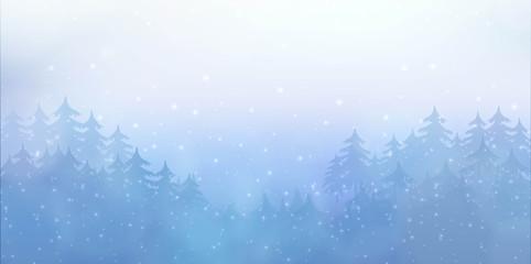 Christmas background winter landscape