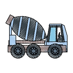 cement truck vector ilustration