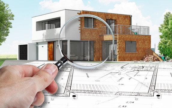 Audit et expertise sur maison d'architecte en construction