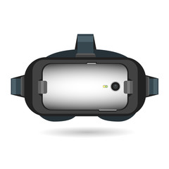 VR Virtual reality glasses headset designed for mobile phone device isolated on a white background
