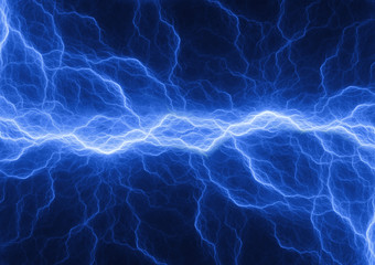 Blue lightning , plasma background