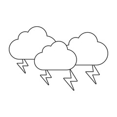clouds and thunders icon