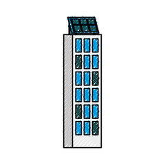 green energy urban ecology nature house or business building with solar panel vector illustration