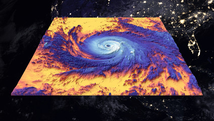 Hurricane Maria. Thermal image. Elements of this image furnished by NASA