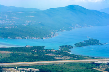 View of Tivat airport from above