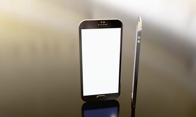 Phone model view, 3d
