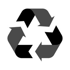 Recycle symbol illustration isolated on a white background