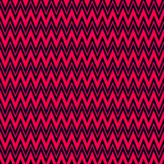 Zigzag red and dark blue seamless pattern