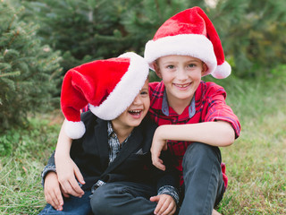 Santa Hat Brothers