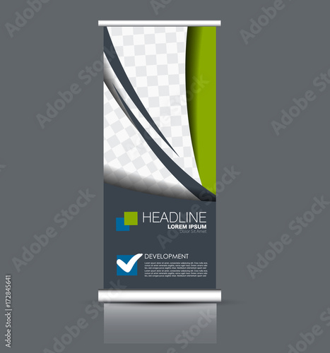 roll up banner stand template abstract banner background for design