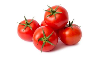 Tomaten freigestellt auf weißem Hintergrund