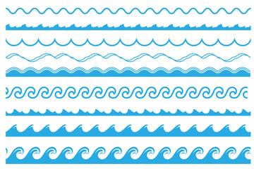 Wave ornament set