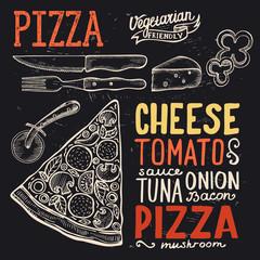 Pizza poster for restaurant.
