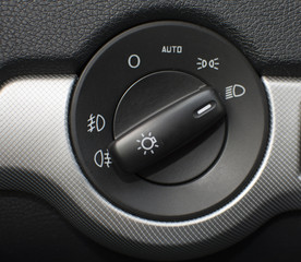 The switch of light of headlights in a German car
