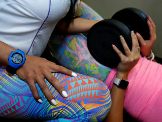 """Women work out during a training session at the """"Spazio"""" fitness centre in La Paz"""