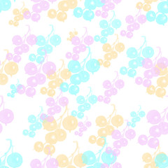 Seamless pattern with black currant