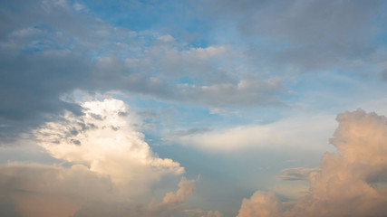 Beautiful cloudy sky,fluffy cloudy background