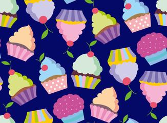 Happy birthday vector card. Hand drawn Vector illustration. Invitation template design.