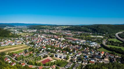 Lörrach germany cityscape year 2015