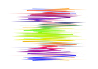 Colorful art waves isolated on white background.