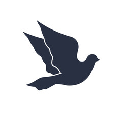 Dove icon in trendy flat style isolated on background. Dove icon page symbol for your web site design