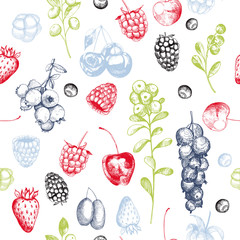 Vector pattern with  berries.