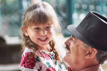 Close friendship between grandfather and granddaughter
