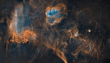 The Tadpoles and Flaming star nebula