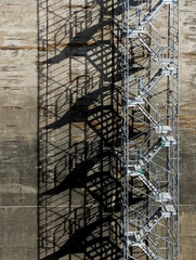 Temporary Steel Stairs On Large Civil Engineering Construciton S