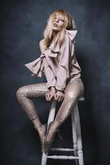 Fashion editorial in studio