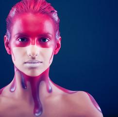 creative face-art, young woman