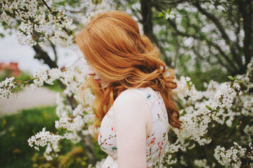 Portrait of beautiful red hair woman