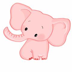 cute pink elephant
