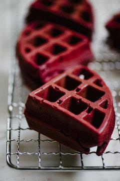 Red Velvet Cake Waffles