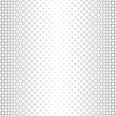 Monochrome circle pattern border design - geometric abstract vector background graphic