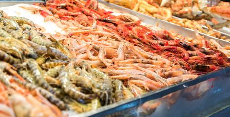 fresh fish market in Canary Islands, Spain