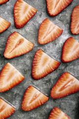 Sliced strawberries