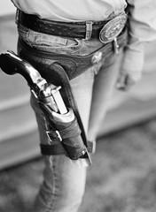 pistol in holster
