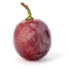 Fototapete - Red grape berry  isolated on white background cutout