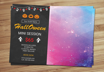 Halloween Special Photography Flyer Layout 3