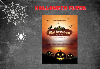 Halloween Party Flyer Layout 2