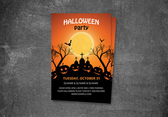 Halloween Party Flyer Layout 12