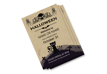 Halloween Party Flyer Layout 13