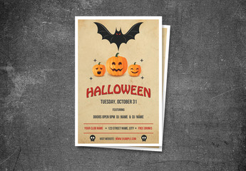 Halloween Party Flyer Layout 14